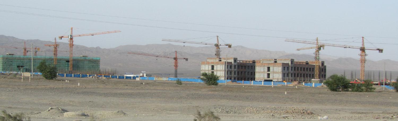 China-Turpan-Desert-Drive-Construction