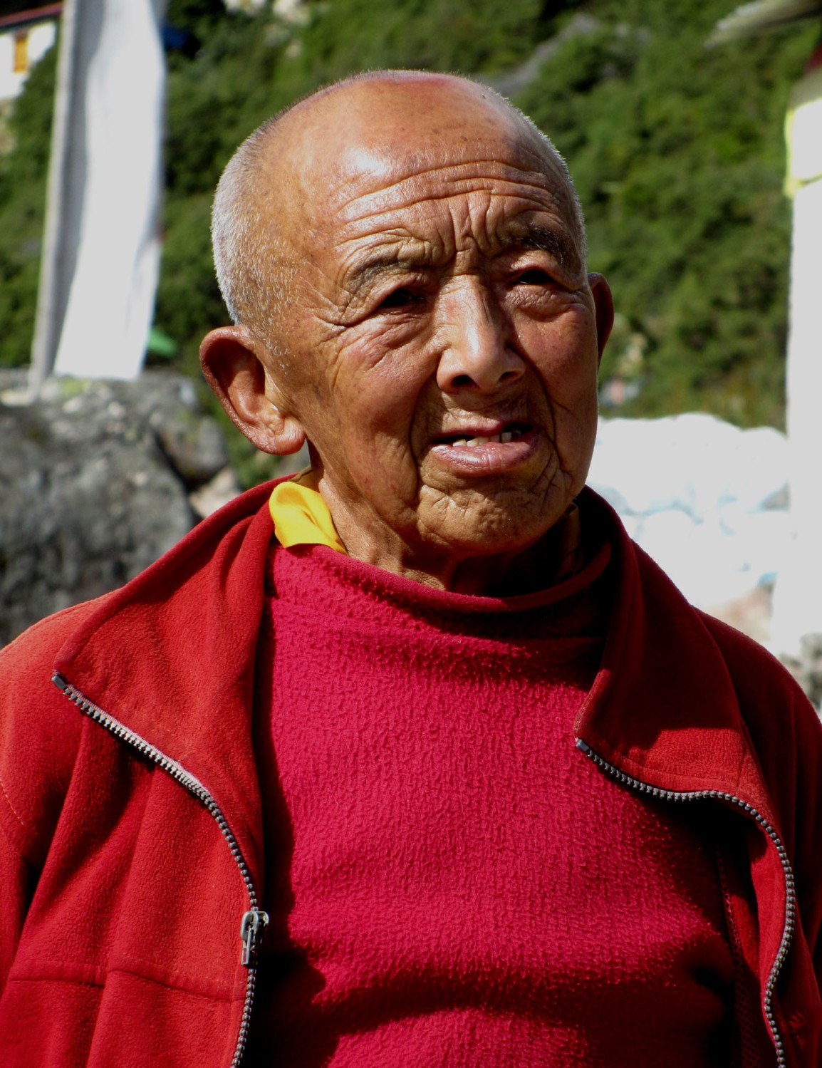 Nepal-Everest-Region-Trek-Day-07-Thame-Monk