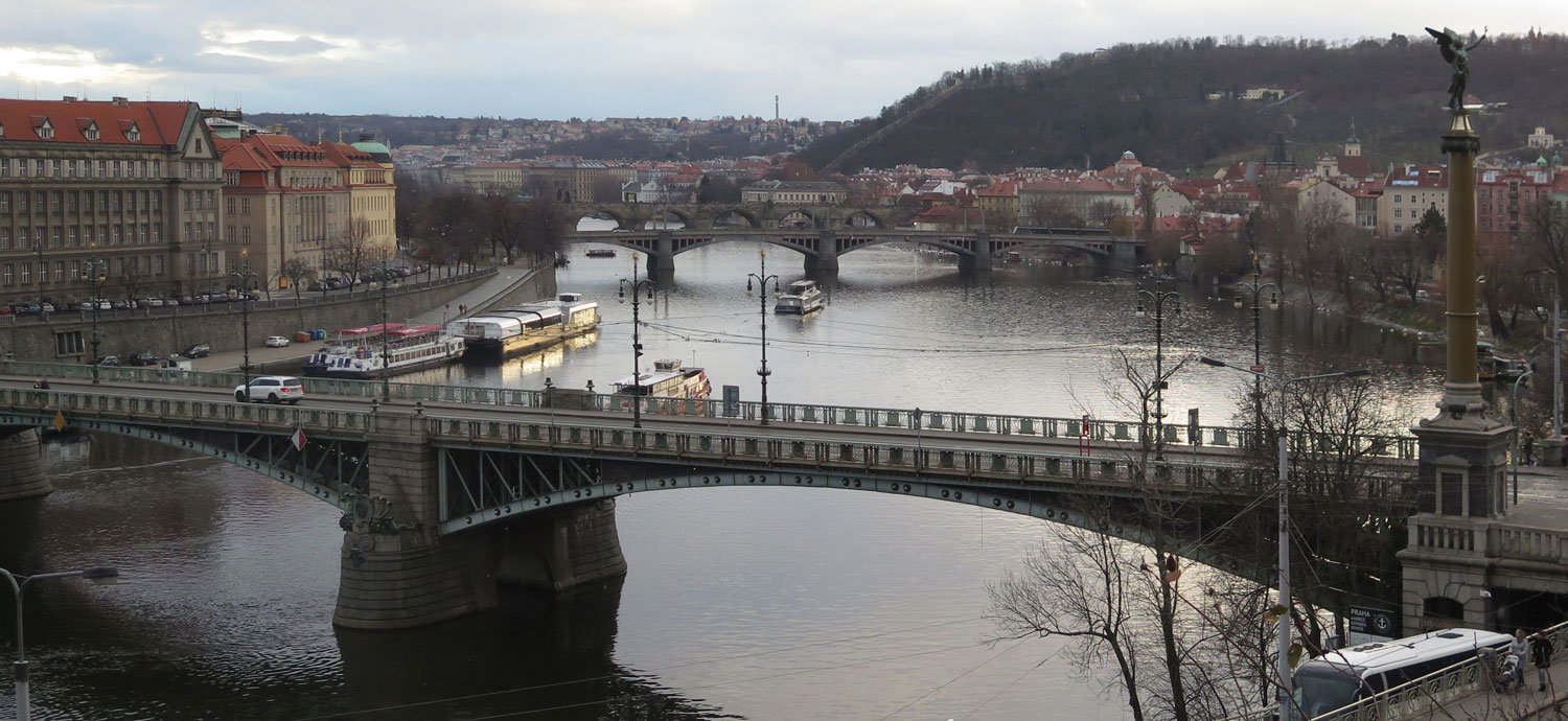 Czech-Republic-Prague-Vltava-River-From-Letna-Park