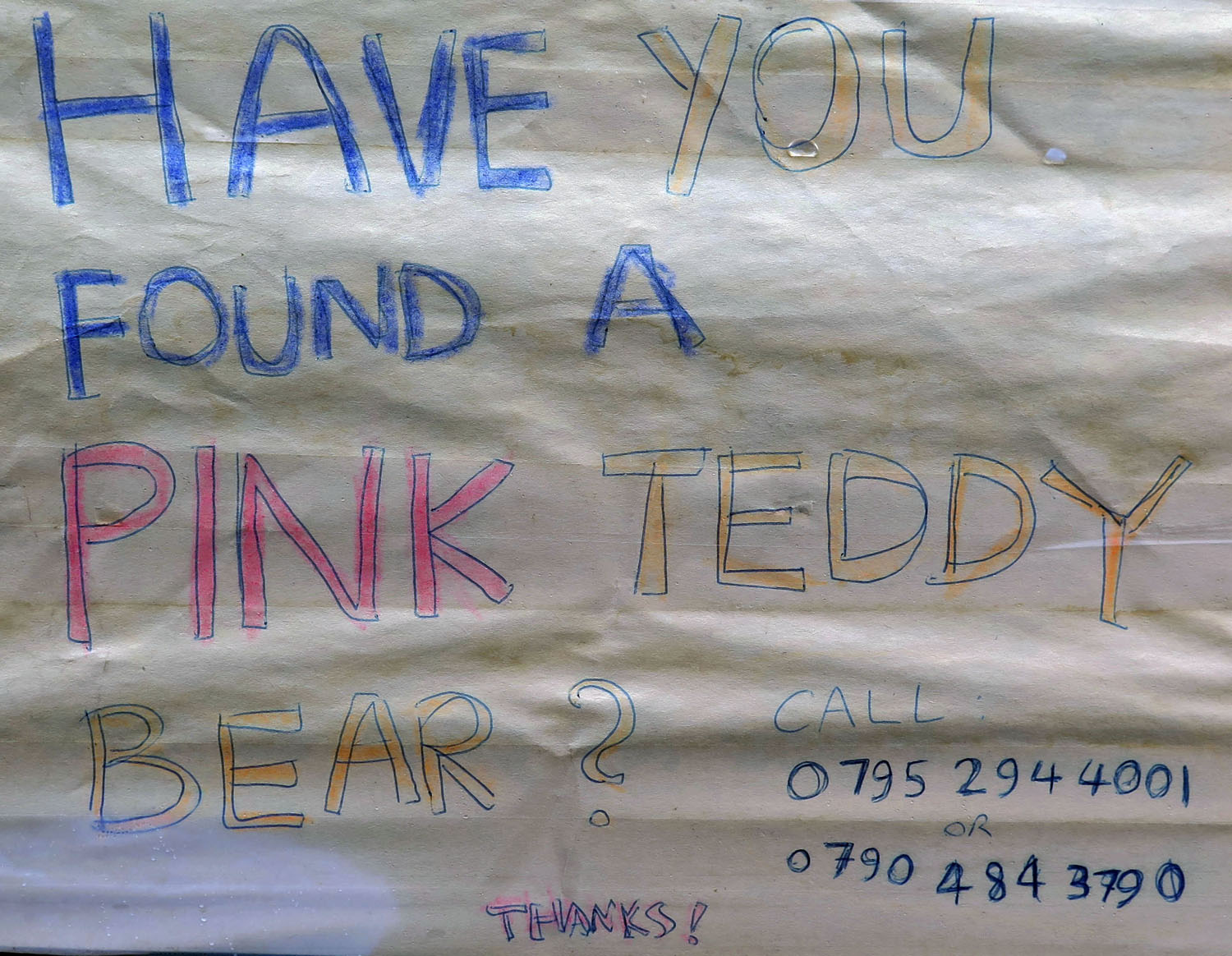 Scotland-Highlands-Luss-Pink-Teddy-Bear