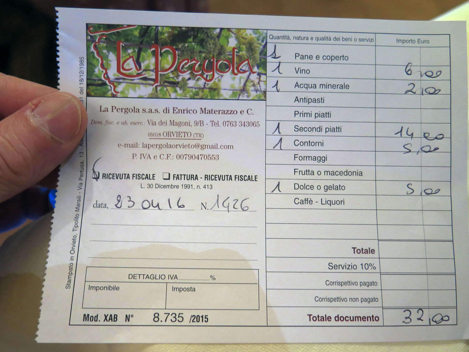 Italy-Orvieto-Food-And-Drink-Bill