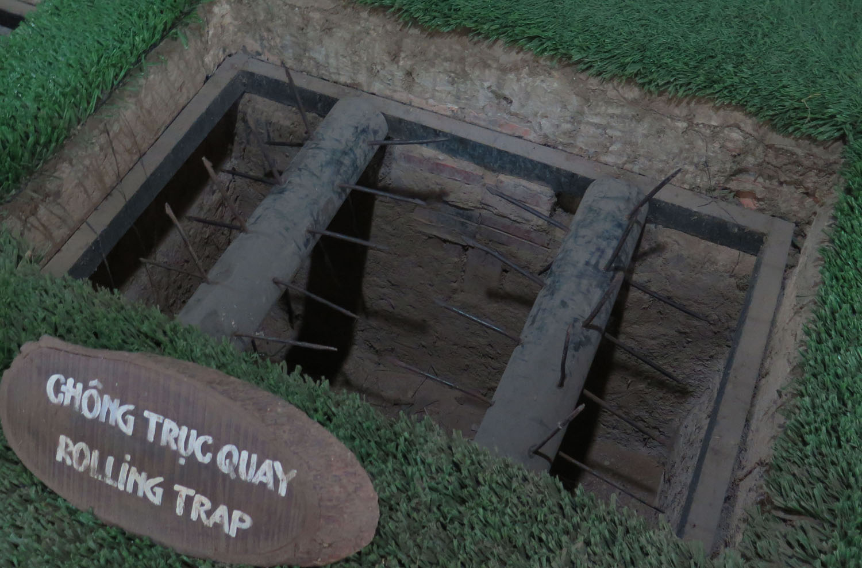 Vietnam-Cu-Chi-Tunnels-Booby-Trap