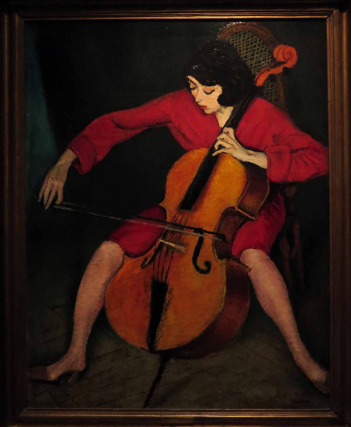Hungary-Budapest-National-Gallery-Bereny-Cellist