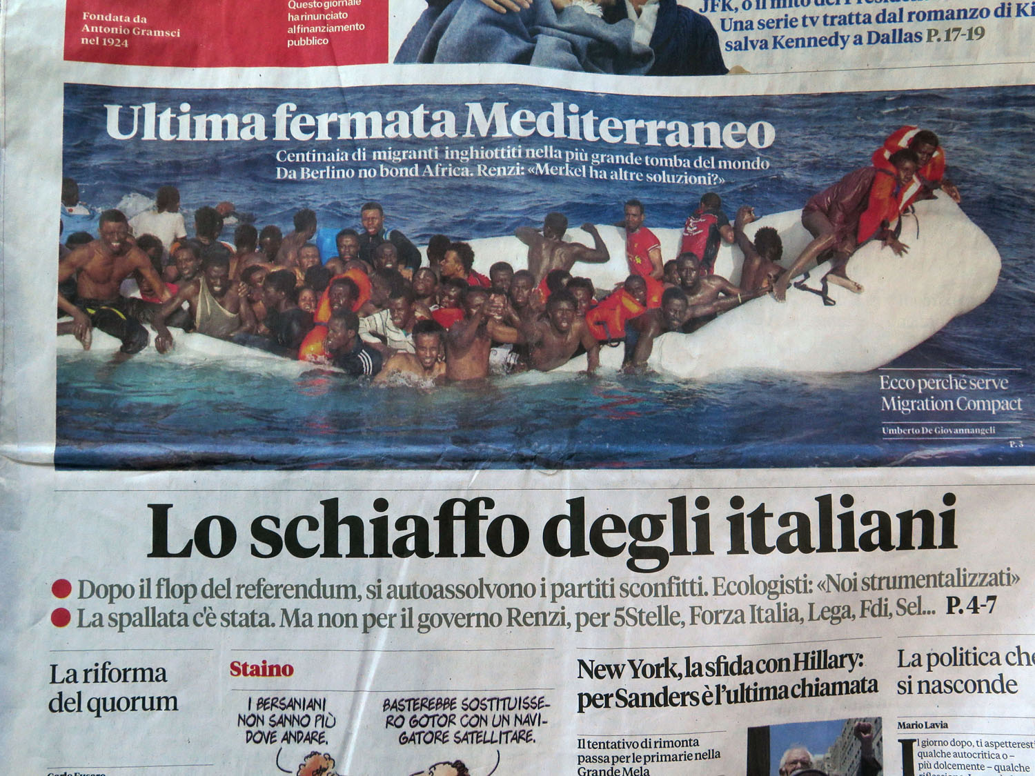 Italy-Rome-Newspaper-African-Refugees