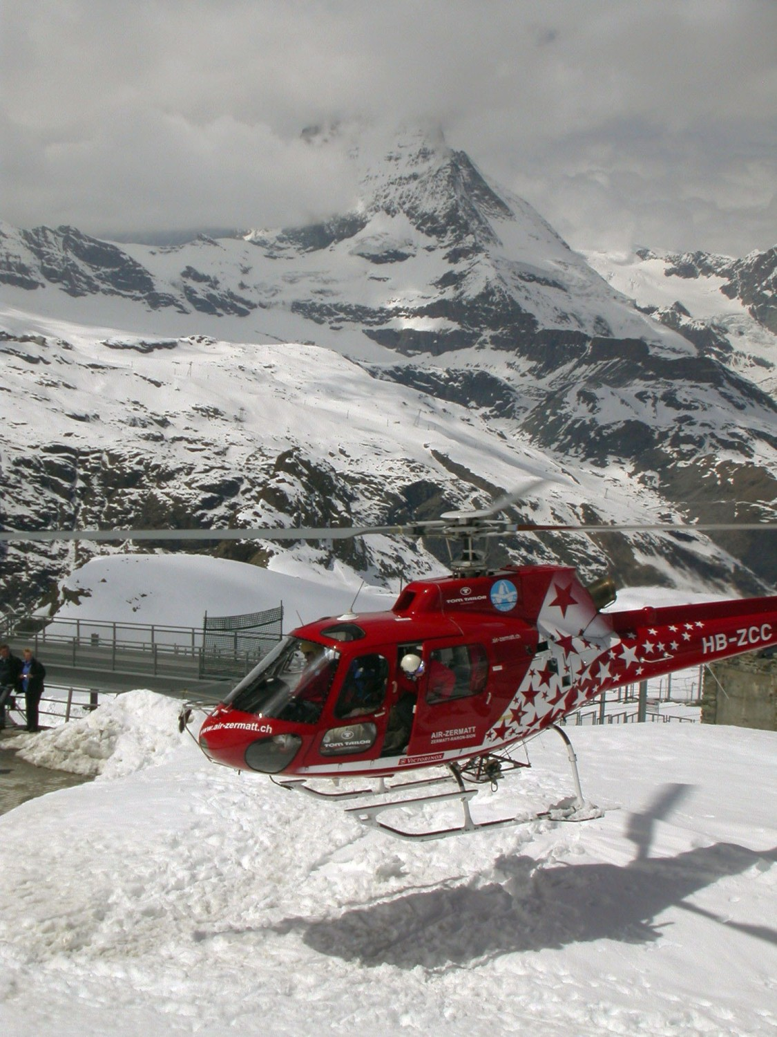 Switzerland-Zermatt-Gornergrat-Helicopter