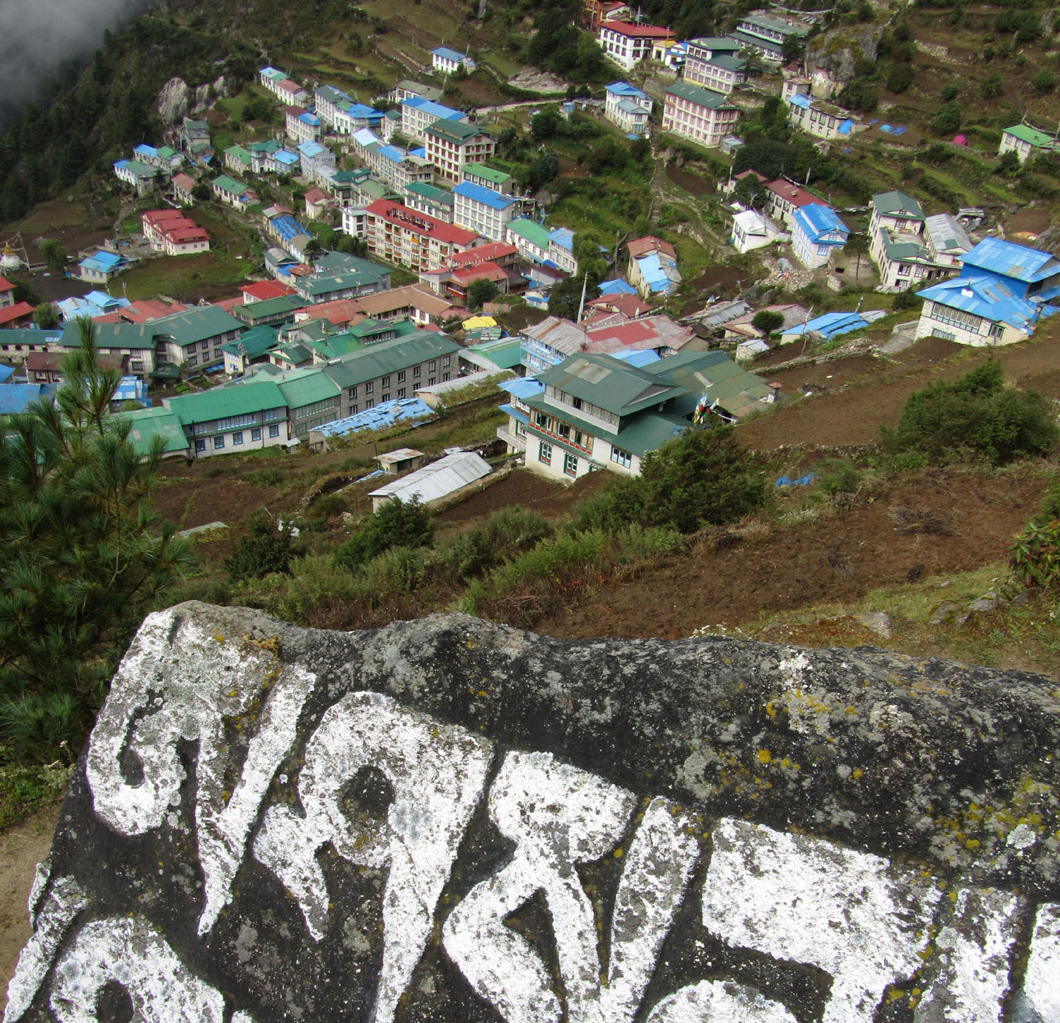 Nepal-Everest-Region-Trek-Day-03-Namche-From-Above