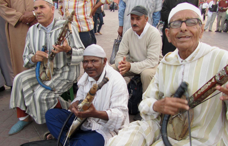 Morocco-Marrakech-Djemaa-El-Fna-Band