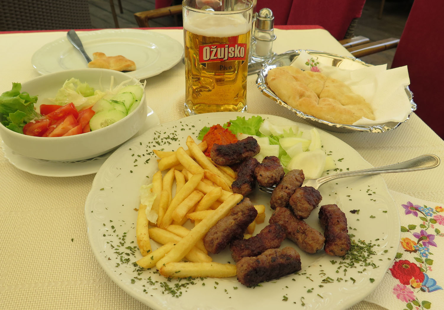 Croatia-Zagreb-Food-And-Drink-Cevapi