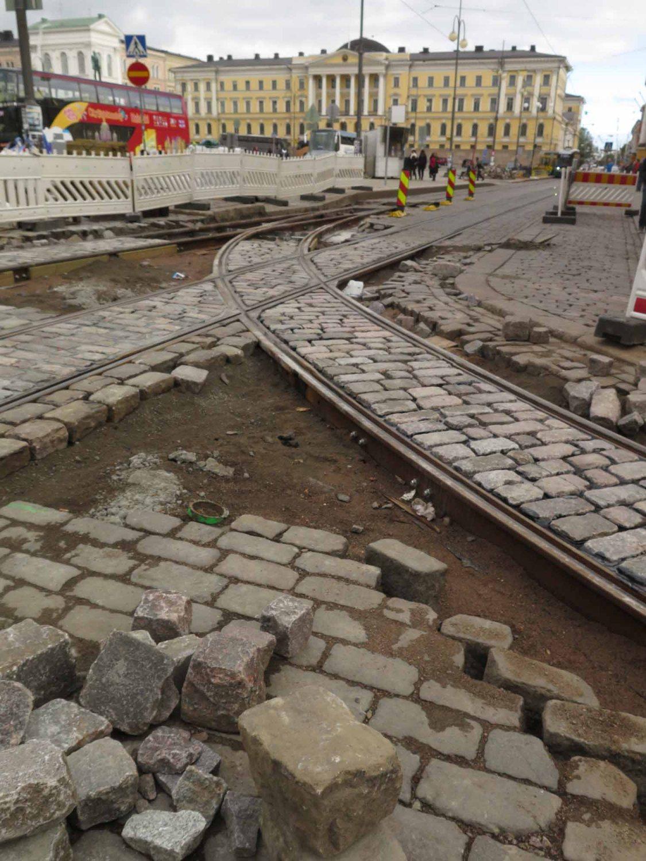 Finland-Helsinki-Tram-Tracks-Repair