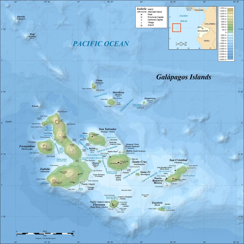 Ecuador-Galapagos-Map