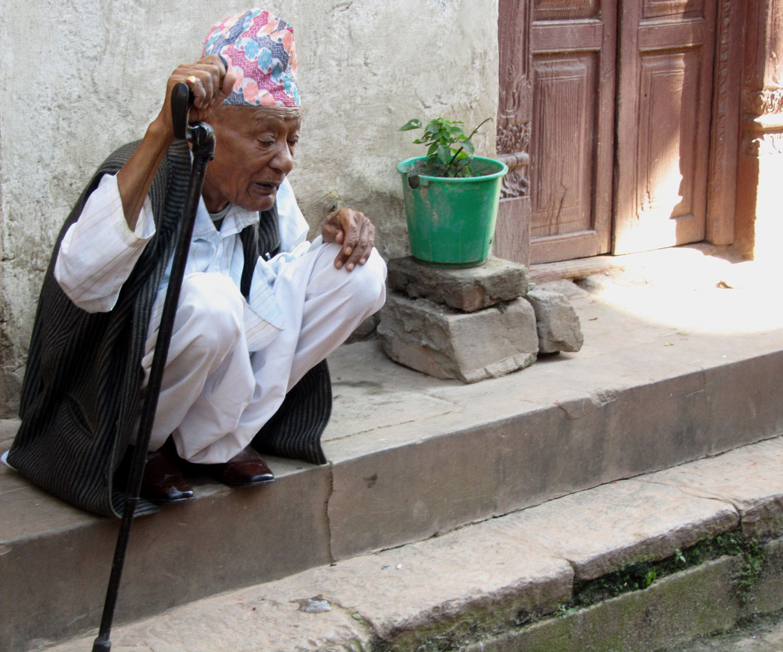 Nepal-Bhaktapur-Old-Man