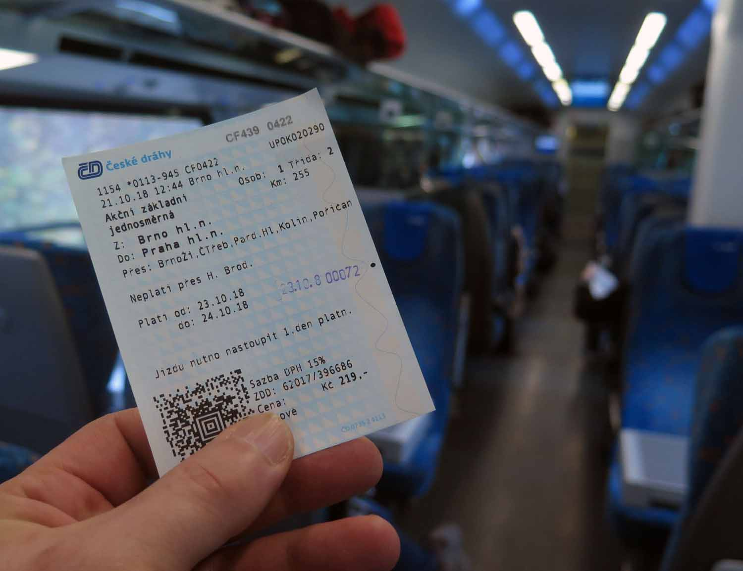Czech-Republic-Prague-Train-Ticket-From-Brno