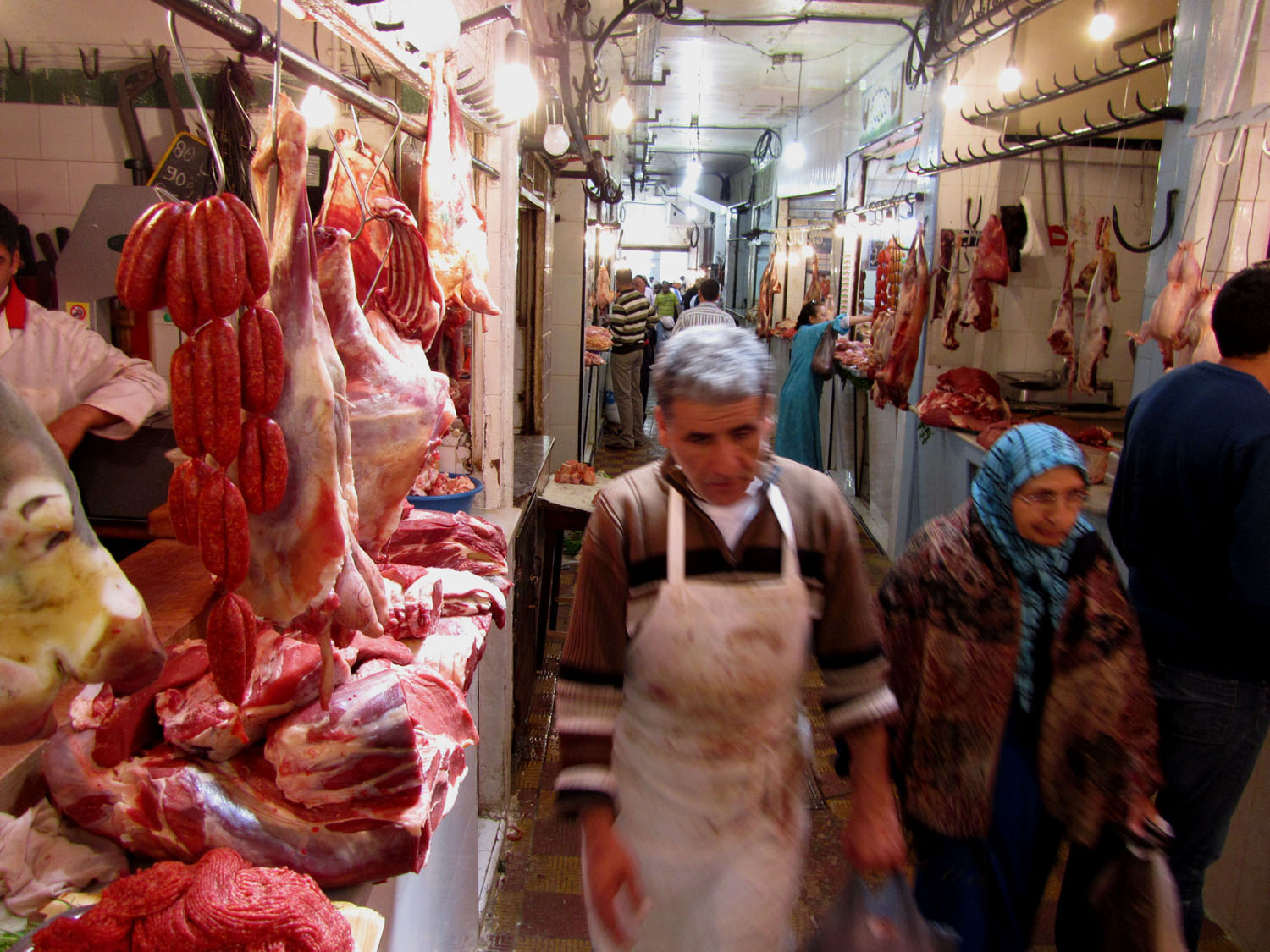 Morocco-Tangier-Souk-Meat