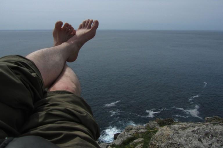 Camino-De-Santiago-Finisterre-Feet-Ocean