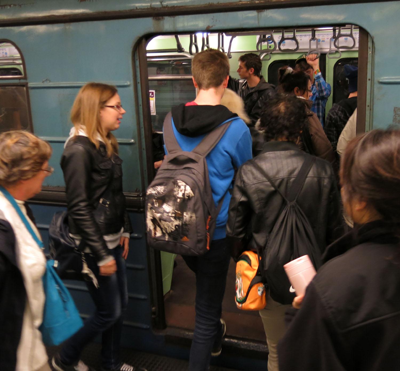 Hungary-Budapest-Metro-Loading