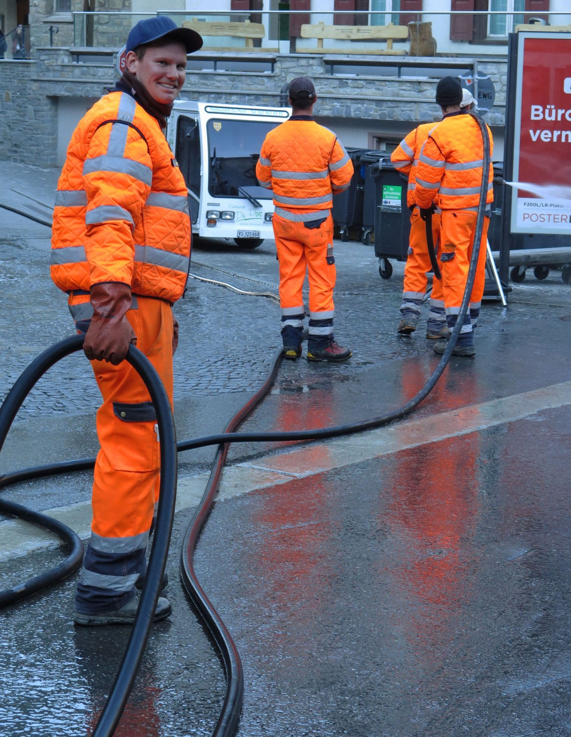Switzerland-Zermatt-Street-Cleaning