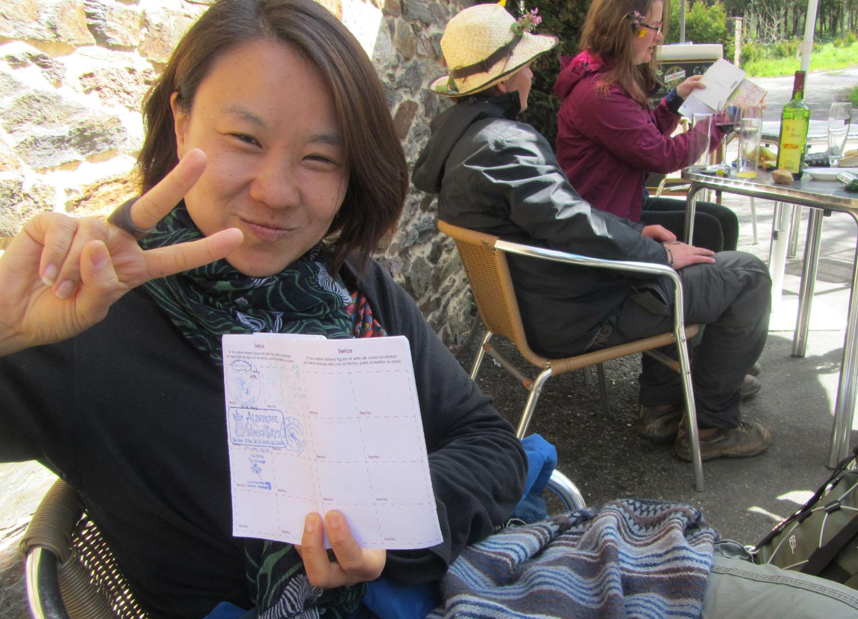 Camino-De-Santiago-People-Korean-Lady-Credencial