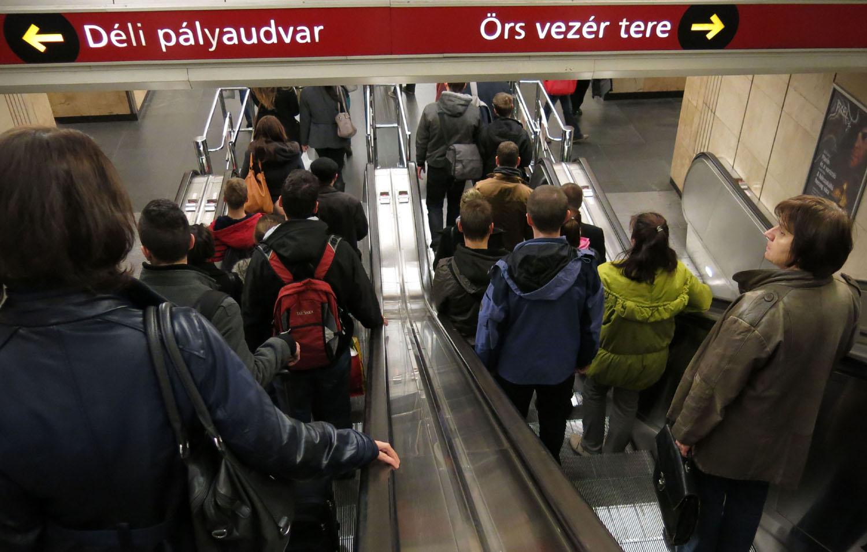 Hungary-Budapest-Metro-Going-Down