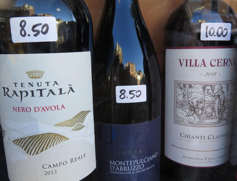 Italy-Rome-Street-Scenes-Vino-Reflection