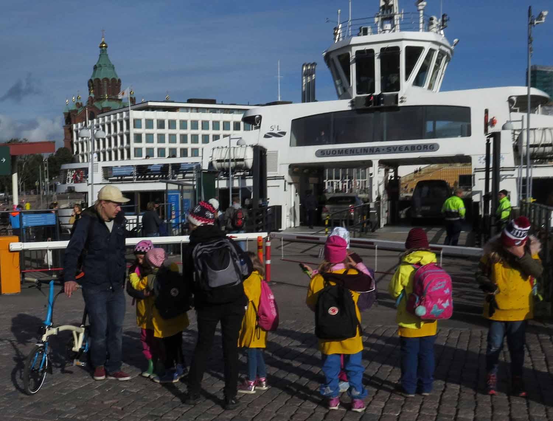 Finland-Helsinki-Suomenlinna-Ferry-Kids