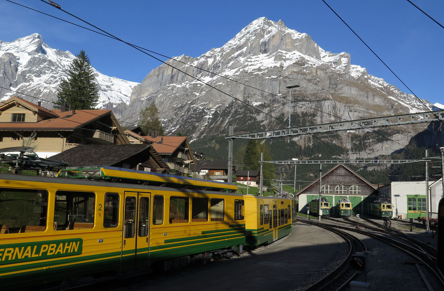 Switzerland-Bernese-Oberland-Grindelwald-Train-Station
