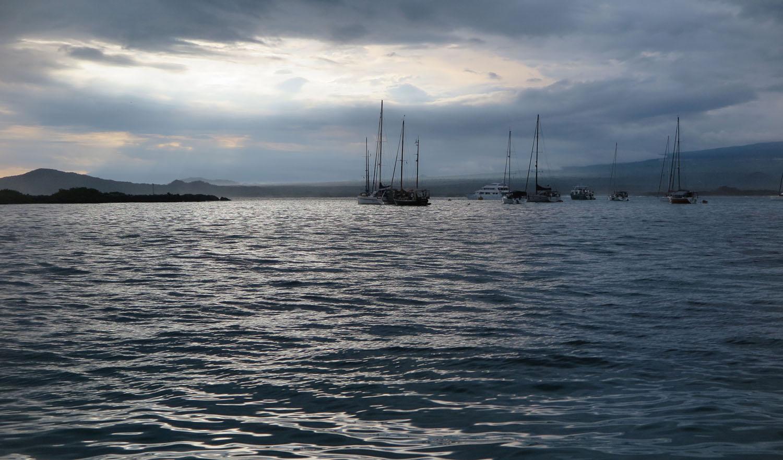 Ecuador-Galapagos-Scenery-Sailboats