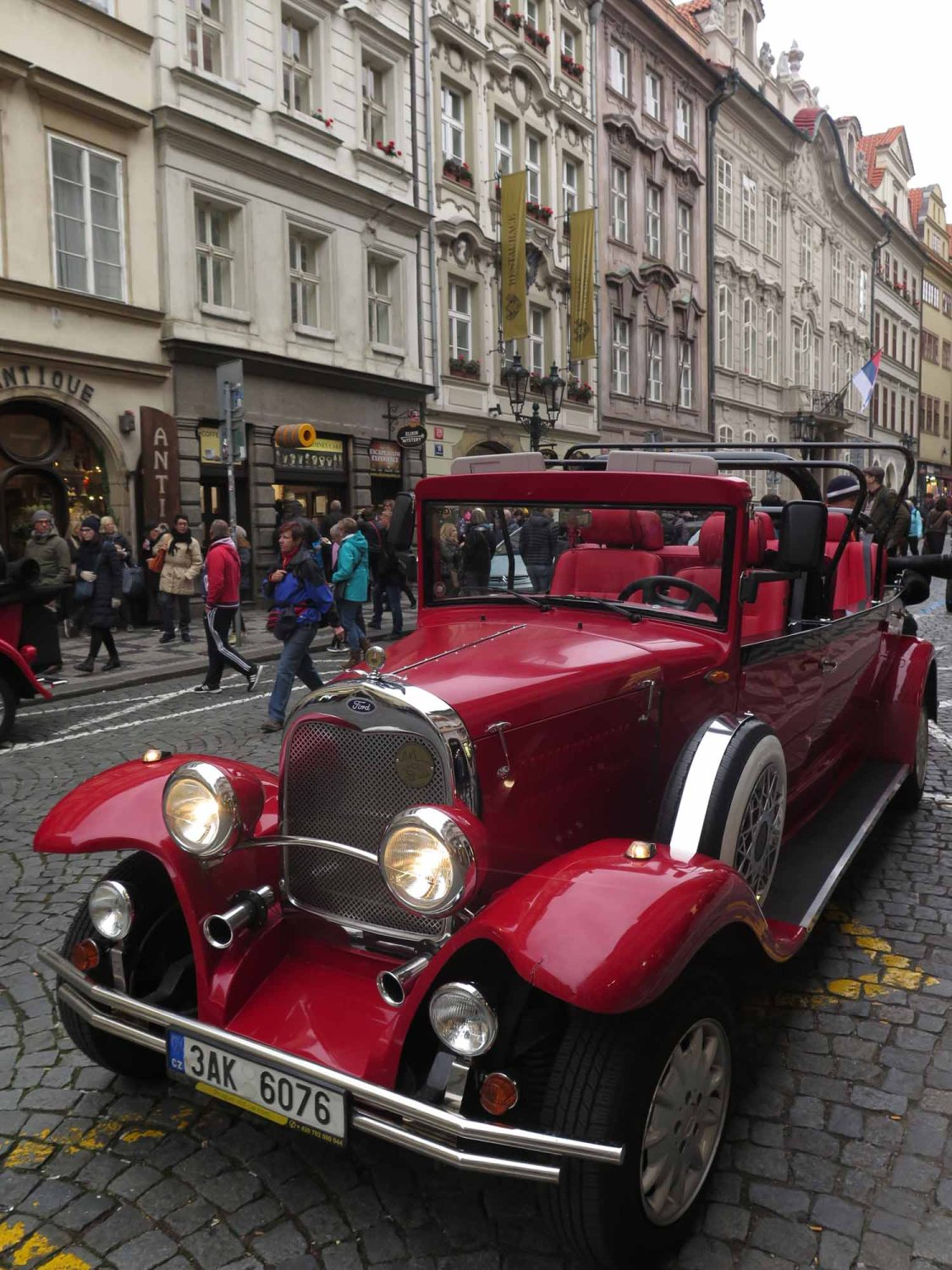 Czech-Republic-Prague-Old-Time-Car