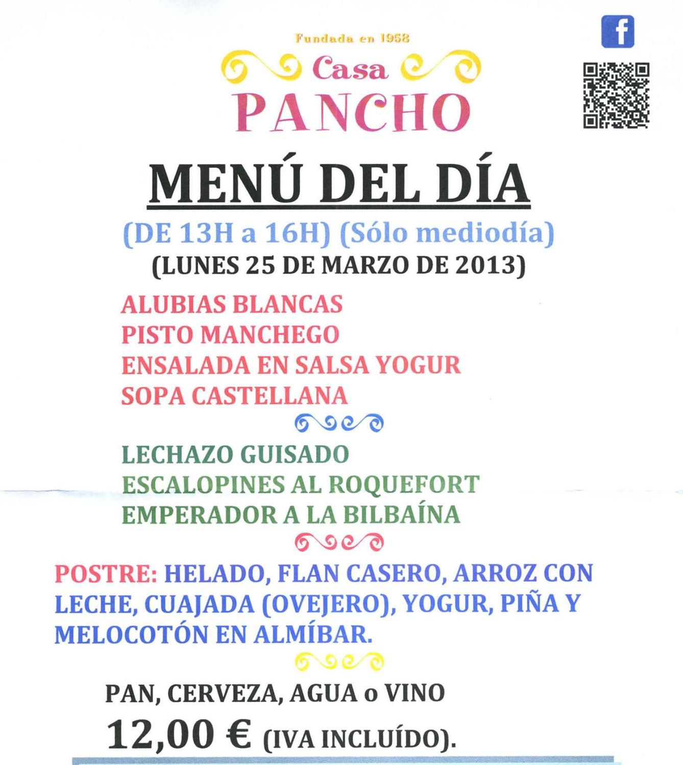Camino-De-Santiago-Food-And-Drink-Menu-Del-Dia